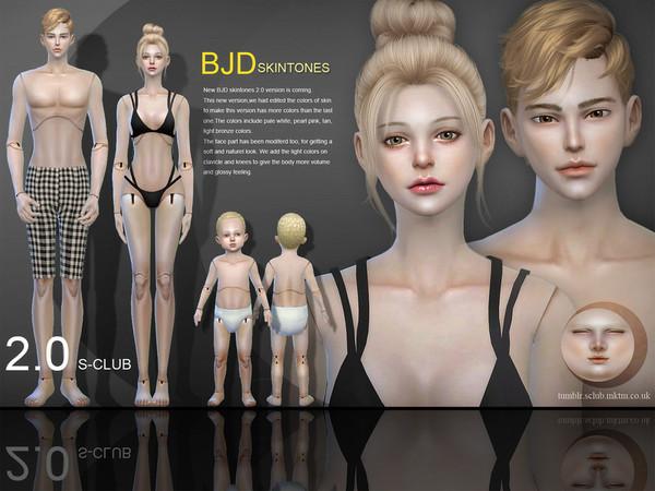 S-Club WMLL ts4 BJD2.0 skin ALL AGE