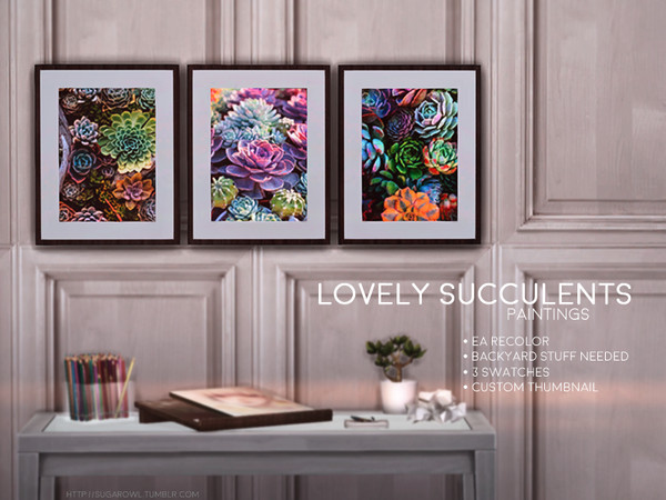Lovely Succulents paintings   Backyard Stuff needed - The