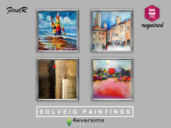 Solveig Paintings - GET FAMOUS REQUIRED - The Sims 4