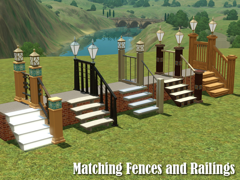 Missing fences matching the railings