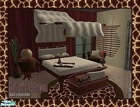 Sims 2 — Safari Bedroom by Angela — Nice masterbedroom with some african accents.