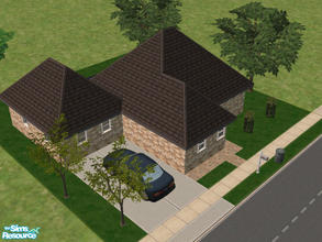 Sims 2 — 15 Peach Court by Cali95678 — Cozy 1 bedroom 1 bath starter home with pool and car. All Maxis
