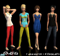 Sims 2 — Shiny - Collection  for Adult Females by francisssko —