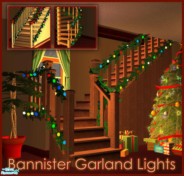 sim_man123 s Bannister Garland Lights