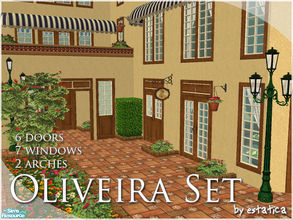Sims 2 — Oliveira Build Set by estatica — These elegant doors and windows were made to last and, of course, to blend