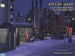Sims 2 — Tin Can Alley by Cyclonesue — Not all your Sims will be warm indoors this winter. Sleeps 3 with room to expand -