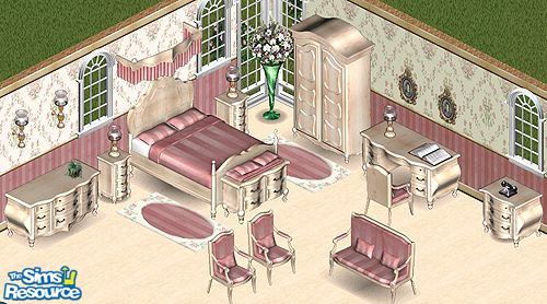 Secret Sims & STP Carly\'s Victorian Pink Bedroom
