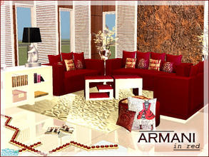 ARMANI Living Room In Red Part 7
