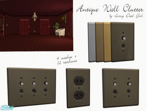 Sims 2 — Antique Wall Clutter by Living Dead Girl — Useless wall clutter. Single, double and triple push button light