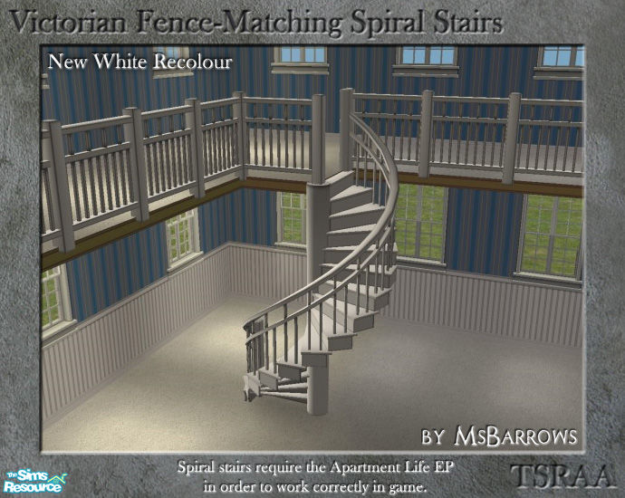 Msbarrows 39 Victorian Spiral Stairs New White Recolour