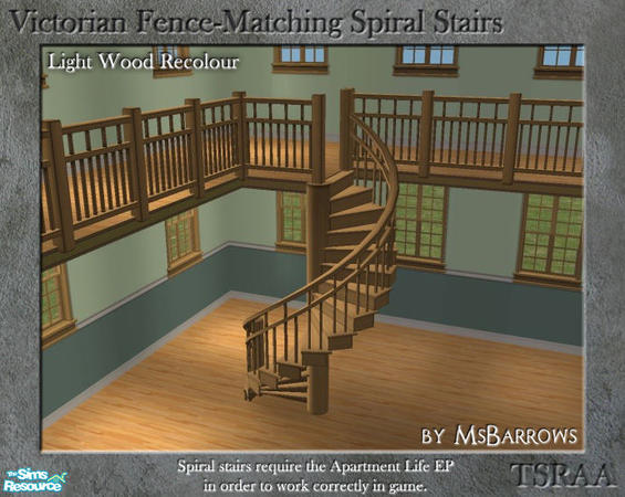 Msbarrows 39 victorian spiral stairs light wood recolour for Victorian spiral staircase