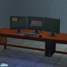Sims 2 — Triple Monitor Computer by Toddfx — A triple monitor version of my previously made custom computer. NOTE: This