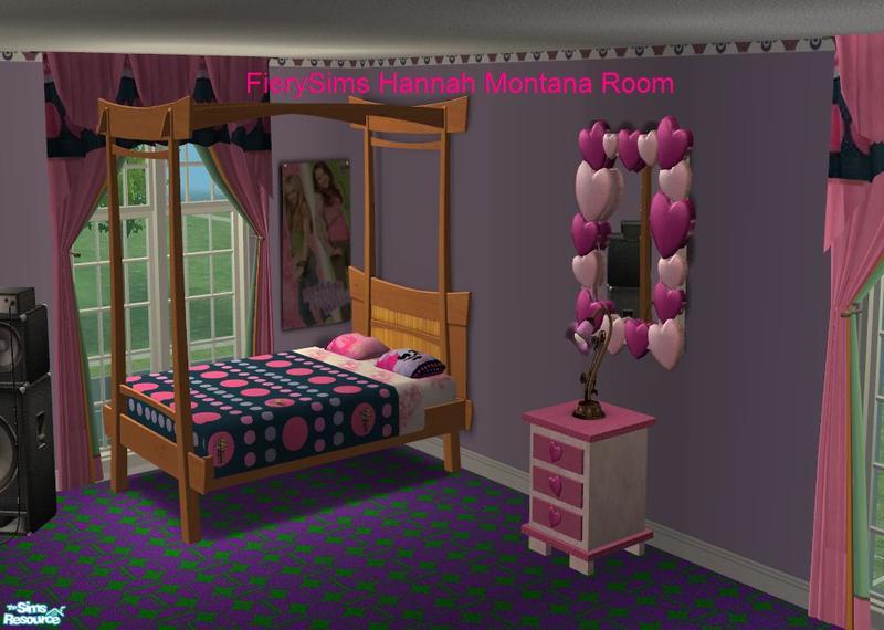 vikachues Hannah Montana ( Miley Cyrus ) Pink Bedroom - Hannah Montana Bedroom