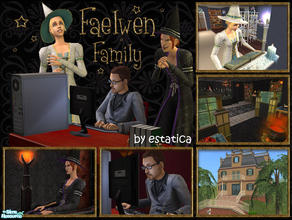 Sims 2 — Faelwen Family by estatica — Ursula and Andromeda are two magical sisters, but they couldn\'t be more different.