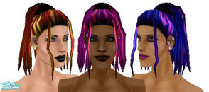 Sims 1 — Metalheads: Dreadlock Falls  by Downy Fresh — Meshed exclusively for The Sims Resource! This head features