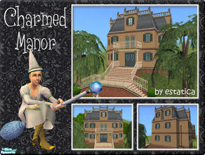 Sims 2 — Charmed Manor by estatica — This old manor appears to be just an ordinary home, but it hides a strange secret...