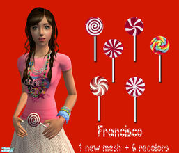 Sims 2 — Christmas Lollipops Accessory Set - Collection 24 by francisssko — Christmas Lollipops for your sims , yummy!. 1