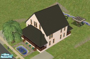 Sims 2 — Double Home by brittie — Each unit has 2 bedrooms, a living room, a bathroom, and a dining room. Both units have