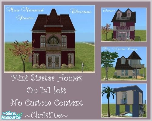 Cm 11778 39 s mini starter homes on 1x1 lot no cc used for Small starter homes