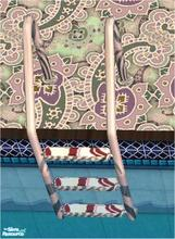Sims 2 — tams tc 120 set - Ladder For Tc 120 by tambriah — swirly striped steps with floral trim created by: tambriah @