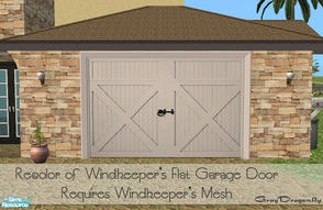 Sims 2 — Garage Door Collection - Roberts White by GrayDragonfly — Recolor of Windkeeper\'s flat garage door mesh!