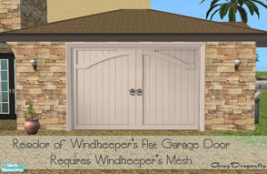Sims 2 — Garage Door Collection - Claremont White by GrayDragonfly — Recolor of Windkeeper\'s flat garage door mesh!