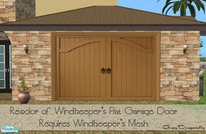 Sims 2 — Garage Door Collection - Claremont Light Wood by GrayDragonfly — Recolor of Windkeeper\'s flat garage door mesh!
