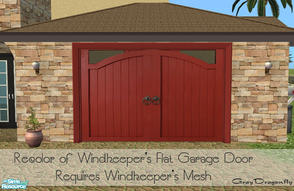 Sims 2 — Garage Door Collection - Claremont 02 Red by GrayDragonfly — Recolor of Windkeeper\'s flat garage door mesh!