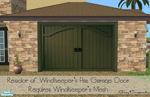 Sims 2 — Garage Door Collection - Claremont Green by GrayDragonfly — Recolor of Windkeeper\'s flat garage door mesh!