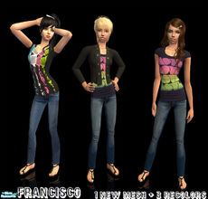 Sims 2 — Gone - Collection 25 for Teen Females by francisssko — 1 new mesh + 3 recolors , enjoy :)