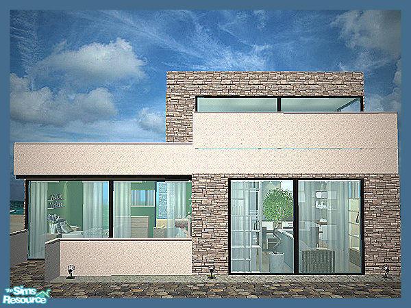 sims 2 house modern - Tiny House Modern 2