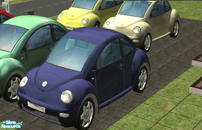 vikachues vw bug beetle blue car