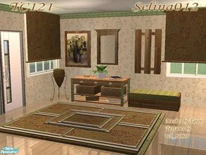 Sims 2 — TC121 - Hall Set by selina012 — Created for the texture challenge 121. Meshes from tarox, please download the