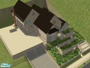 Sims 2 — Southwestern Mountainside by brittie — Requested by my brother. Features include: Foyer, Sundeck, Living room,