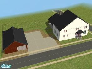 Sims 2 — Residence by brittie — This is my father-in-law\'s house. Features: full basement, garage, yard space, living