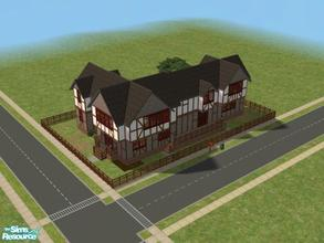 Sims 2 — Craftsman 2 story by kattmc3 — Large 3 bedroom 4 bath, two story house with large kitchen family room and master