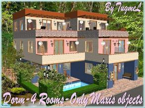 Sims 2 — Tgm-Lot-45 (Dorm-4 Rooms) by TugmeL — Dorm 4 Rooms: 2 Doublebeds, 2 Singlebeds Room.. No Custom Content, Only