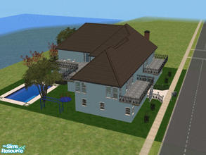 Sims 2 — Deidre\'s Place by Cali95678 — Cute house with 2 large bedrooms and 1 medium size. One of the rooms is left