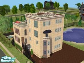 Sims 2 — Upper Class in Vintage Fremont by ianbradley26 — What began as a garage home now is a four floor apartment