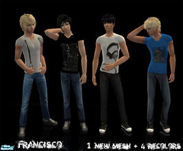 Sims 2 — Pony - Collection 21 for Adult Males by francisssko — 1 New mesh + 4 recolors , Enjoy :P.