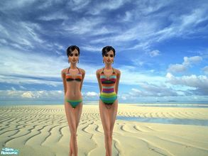 Sims 2 — Esprit Swimsuits 09 by Murphy75 — Two colorful swimsuits for your teen sims!