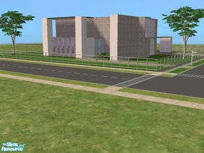 Sims 2 — Ultra Modern House by kattmc3 — A large modern house with great landscaping. 3 bedrooms,4 bathrooms,office and