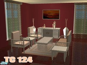 Sims 2 — TC124 Melu Living Set Recolour by selina012 — Made for the texture challenge 124. Painting is a recolour of the