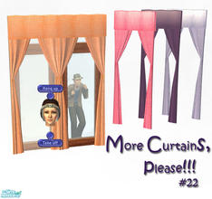 Sims 2 — More Curtains, please! #22 by Sophel21 — uni color texture recolors of Sunair\'s awesome curtain mesh. This mesh
