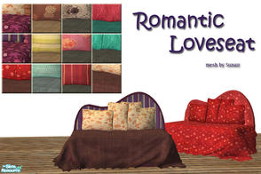 Sims 2 — Romantic Loveseat by Sophel21 — compfy loveseat ... 21 recolors of the cushion and the plaid as 6 separate