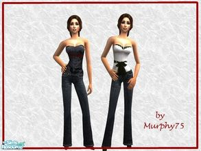 Sims 2 — Fashionable Tube Tops & Jeans - 2 by Murphy75 — Fashionable tube tope and jeans for adult sims!