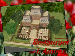 Sims 2 — Restaurant L\'Amour by Ariana31Player — A cuddly and romantic place for your sims to have a lovely dinner.
