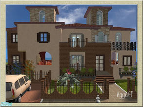 Sims 2 — Villa Regalada by ayyuff — 2x3 (small lot)- Fully tested in game and with Clean Installer--