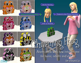 Sims 2 — Charming Frog by estatica — Disguised as an ordinary clock, this charming frog will not only boost fun and