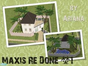 Sims 2 — Maxis Re Done #1 by Ariana31Player — That\'s my remake of a maxis house in Pleasantview. Basegame. Enjoy!!